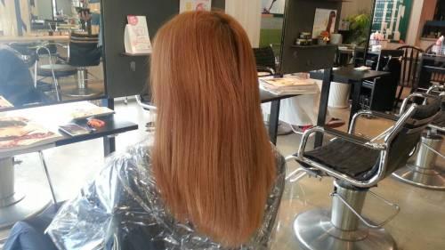 【オーキッドピンクヴェールカラー】冬に可愛い髪色で人気の暖色系カラースタイル