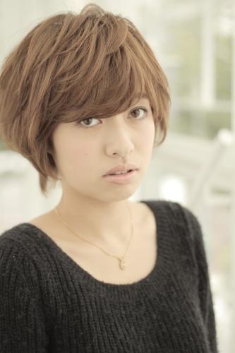 渋谷早紀 しぶやさき 丸顔さん、面長さんでも出来るセットが簡単なショートの髪型【パーマなし・髪質硬め・くせ有】