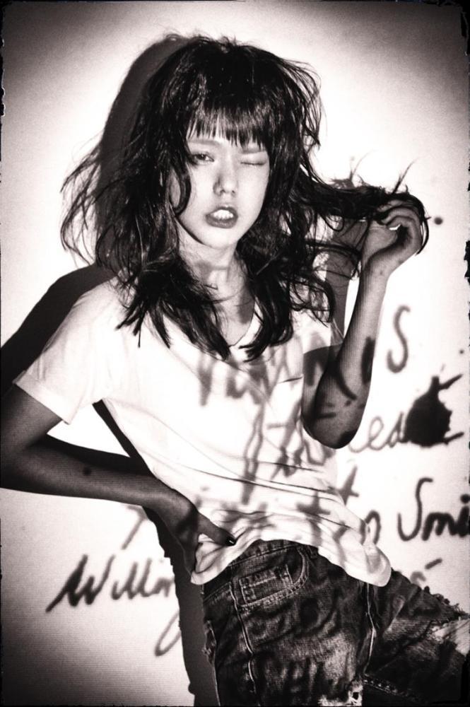 モデル:長澤 メイ × 美容師:若林 紀元(Belle)
