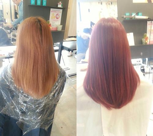 【オーキッドピンクヴェールカラー】デートにおススメ!冬に可愛い髪色で人気の暖色系カラースタイル0