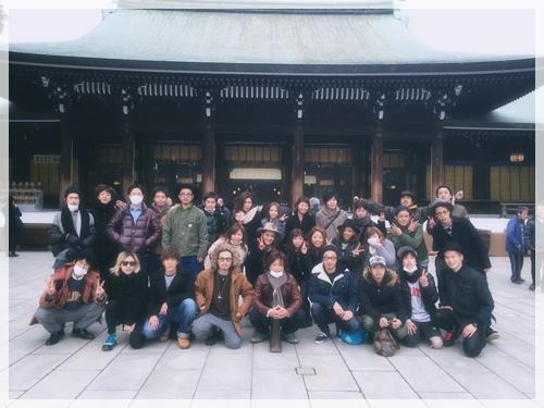 2015年ユーレルムファミリー全員で明治神宮へ初詣