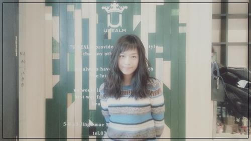 【女優・廣井ゆうさんの髪型】アシメショートバングとビターブラウンカラー1