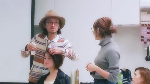 2015年最初の東京ブレンドセミナー Tierra三笠さんのヘアメイク&Zacc増渕さんのメイク(2015・2・15)26