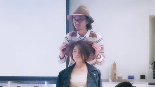 2015年最初の東京ブレンドセミナー Tierra三笠さんのヘアメイク&Zacc増渕さんのメイク(2015・2・15)25