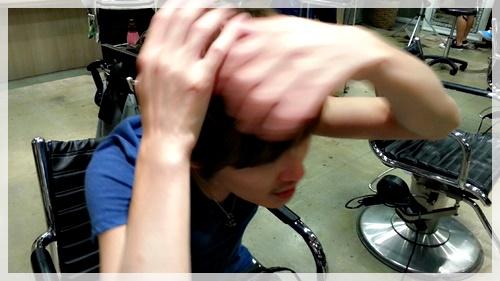 ドライヤーのみで理想の前髪に乾かす方法【4パターン】05