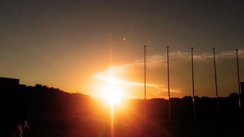 代々木公園から見る夕日