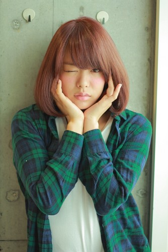 【マルサラブラウン】2015年トレンドカラーを取り入れたSWEET BOB STYLE 宮嶋舞 みやじままい05
