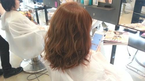 【ガーネットブラウンカラー】赤味を生かした髪色も柔らかい雰囲気で可愛い!01
