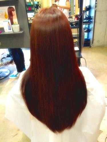 髪色で気分を変えたい☆ファッションに合わせたい☆ガーネットブラウンカラーでイメージチェンジ!03
