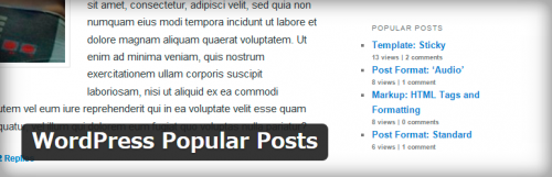 WordPress › WordPress Popular Posts « WordPress Plugins