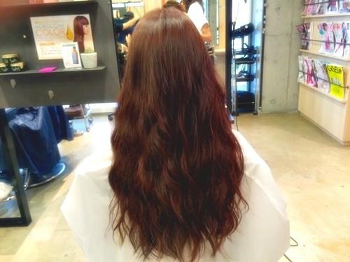 髪色で気分を変えたい☆ファッションに合わせたい☆ガーネットブラウンカラーでイメージチェンジ!02