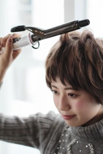ショートヘアの乾かし方とスタイリング方法【ゆっとふわっと柔らかい髪型を作ろう】01