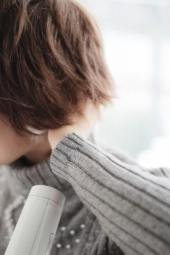 ショートヘアの乾かし方とスタイリング方法【ゆっとふわっと柔らかい髪型を作ろう】12