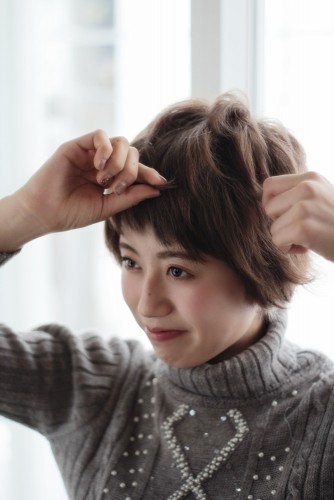 ショートヘアの乾かし方とスタイリング方法【ゆっとふわっと柔らかい髪型を作ろう】07_pp