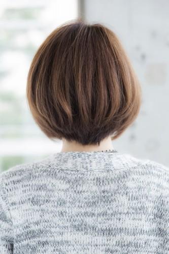 ワンカールのクラシカルグラデーションボブ【シルエットがバランスよく見える髪型】