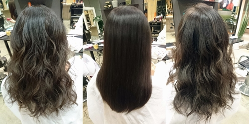 6トーンのロイヤルアッシュカラー【室内だと黒髪に見えるくらいのとことん暗い髪色】