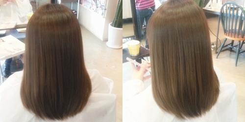 ガキチャート ヘアカラーで実際に染めた髪だけをまとめた髪色と明るさ